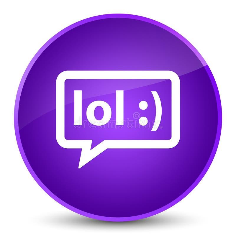 LOL bubble icon elegant purple round button. LOL bubble icon isolated on elegant purple round button abstract illustration vector illustration