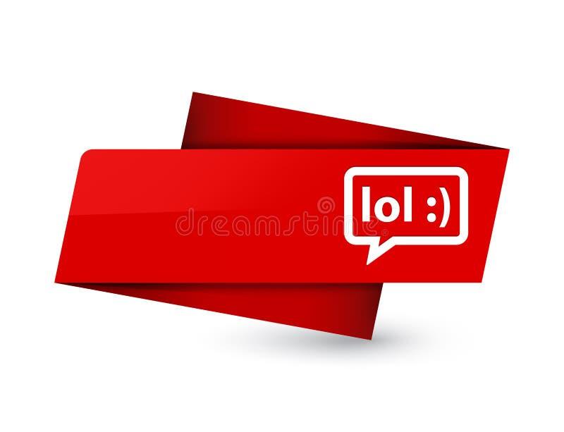 LOL bubble icon premium red tag sign. LOL bubble icon isolated on premium red tag sign abstract illustration vector illustration