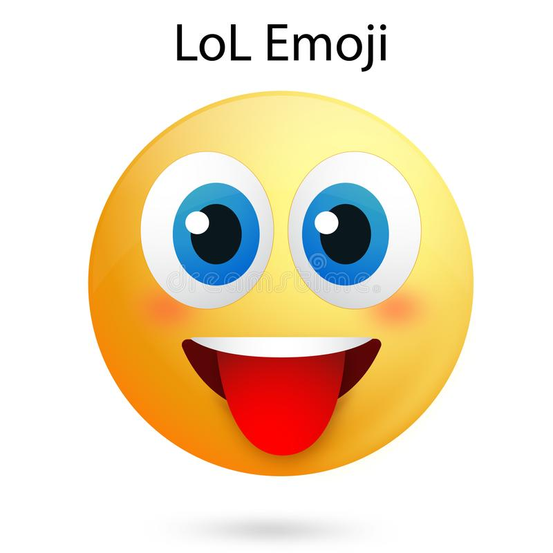 Lol Smiley face with vector Ai file. Easily editable and have white background. high resolution stock illustration