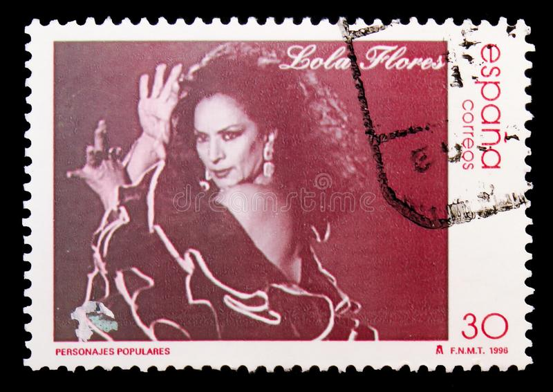 Lola Flores, Beroemdheden serie, circa 1996 stock afbeelding