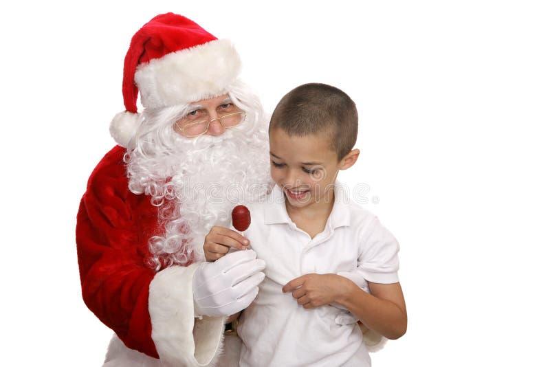 Lolipop van Kerstman stock fotografie