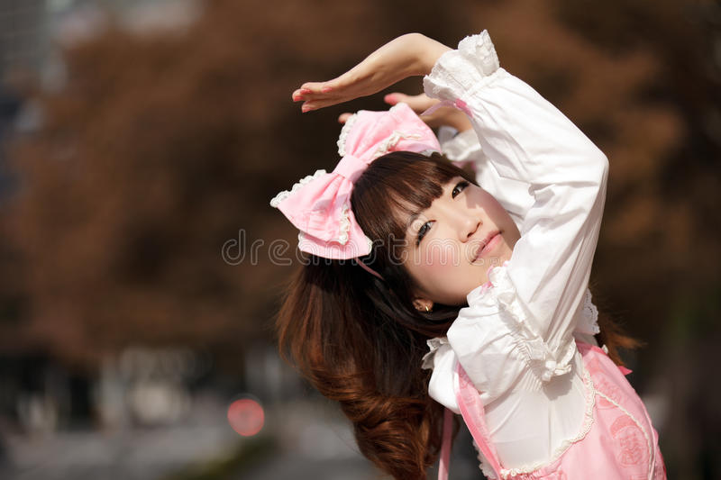 Download Lolita cosplay stock image. Image of outside, asian, female - 24940153