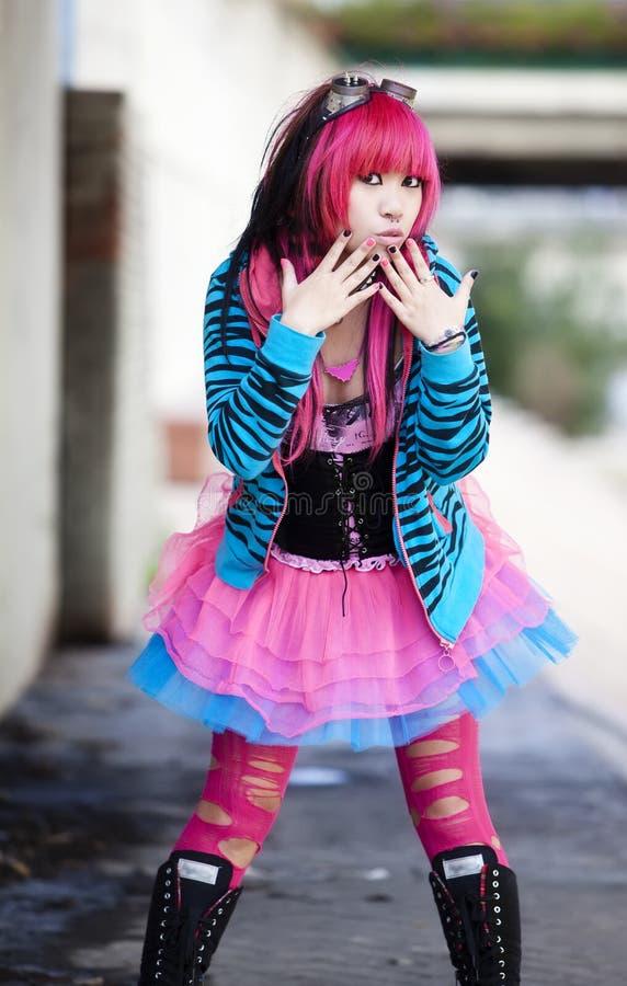 Lolita urbano asiático imagen de archivo