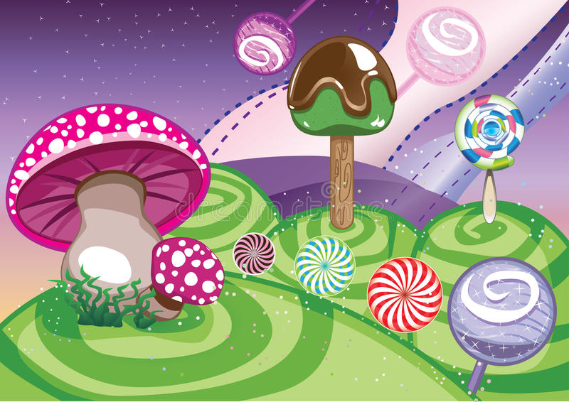 lollipop κόσμος απεικόνιση αποθεμάτων
