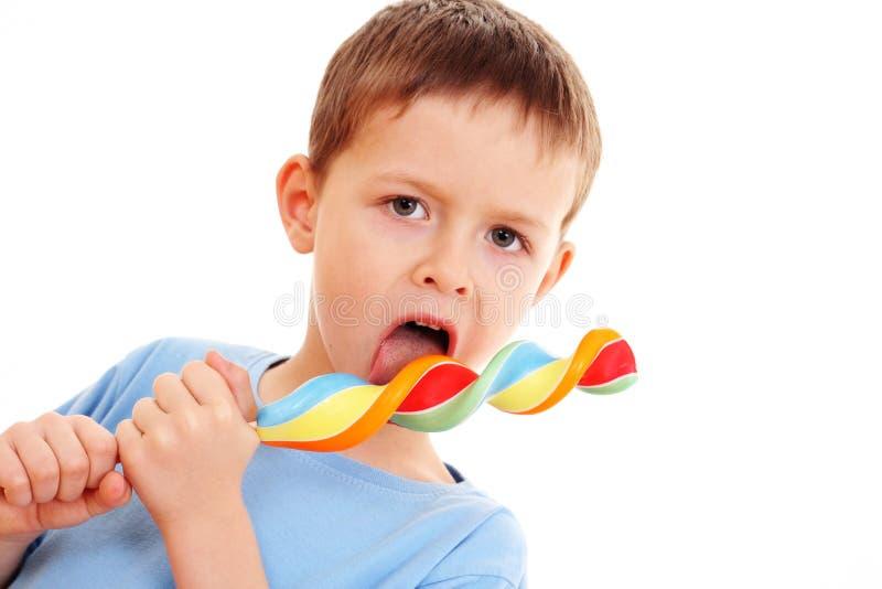 lollipop мальчика стоковые изображения rf