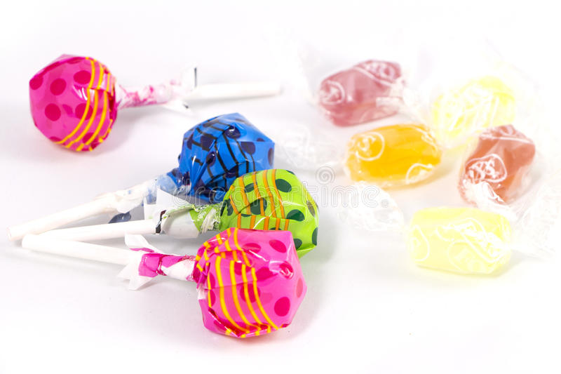 Lollipop Candy Colorful stock images