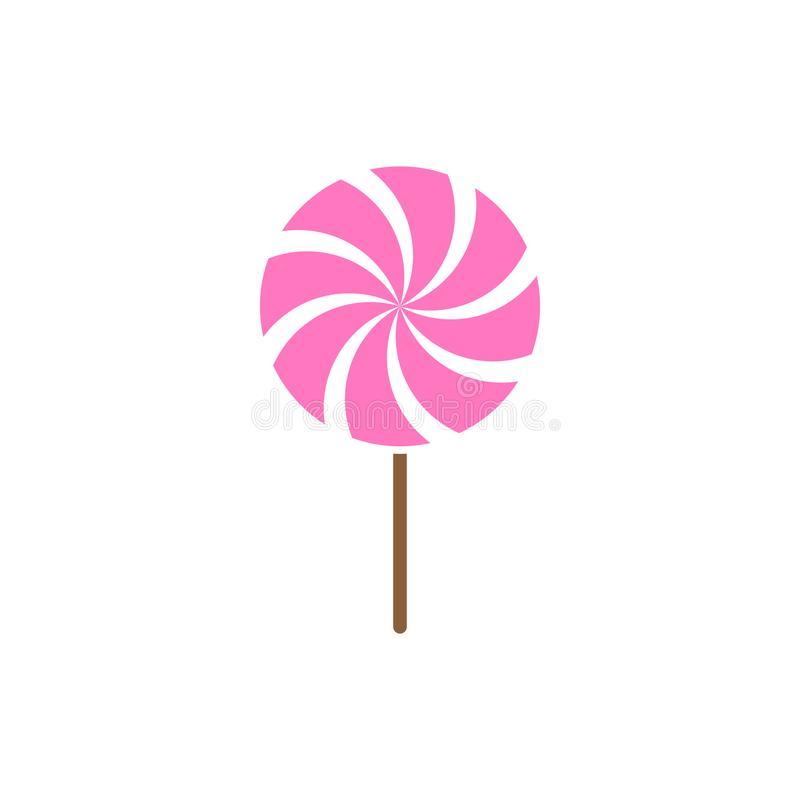 Lollipop candy icon design template vector isolated vector illustration
