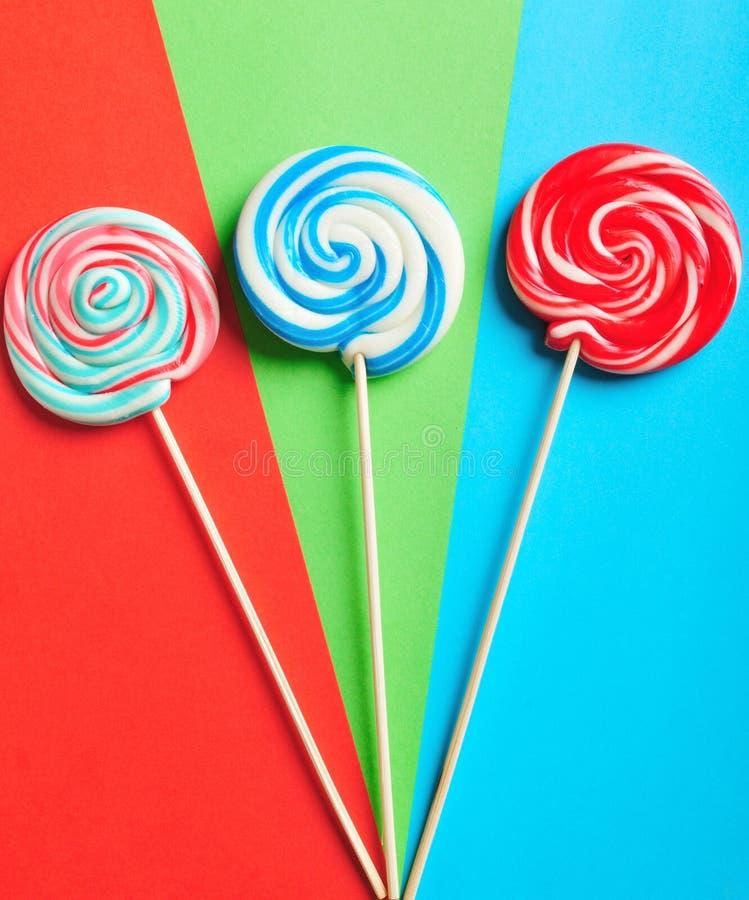 Lollipop colorido imagem de stock royalty free