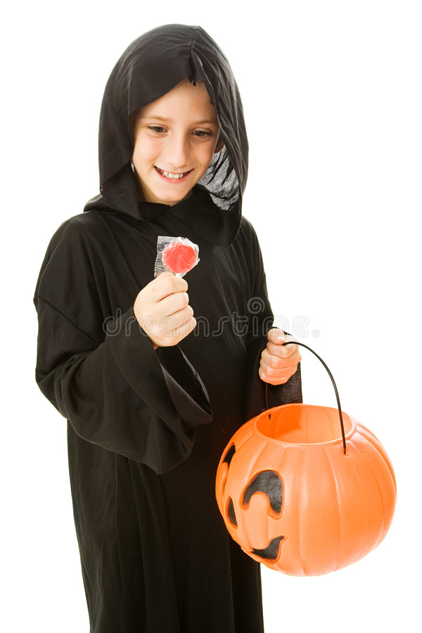 Lollipop de Halloween fotografia de stock