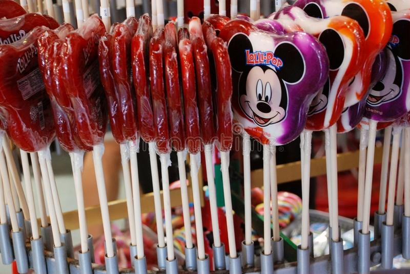Lollipop in disney world stock photo