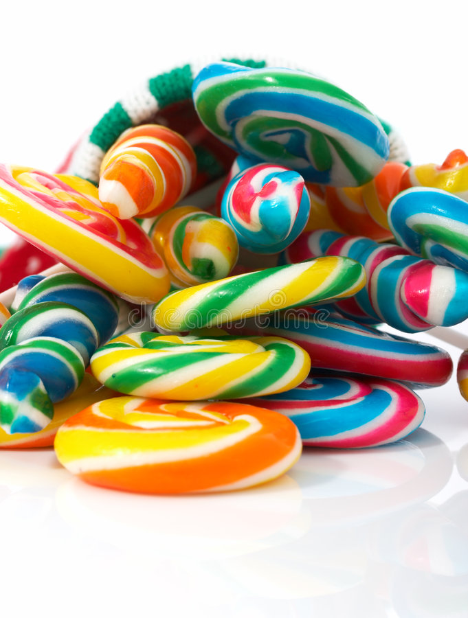 Lollipop do Natal imagens de stock royalty free