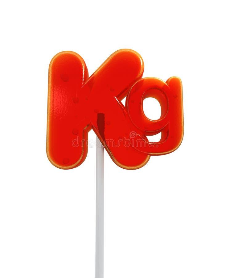 Lollipop do símbolo do quilo ilustração do vetor