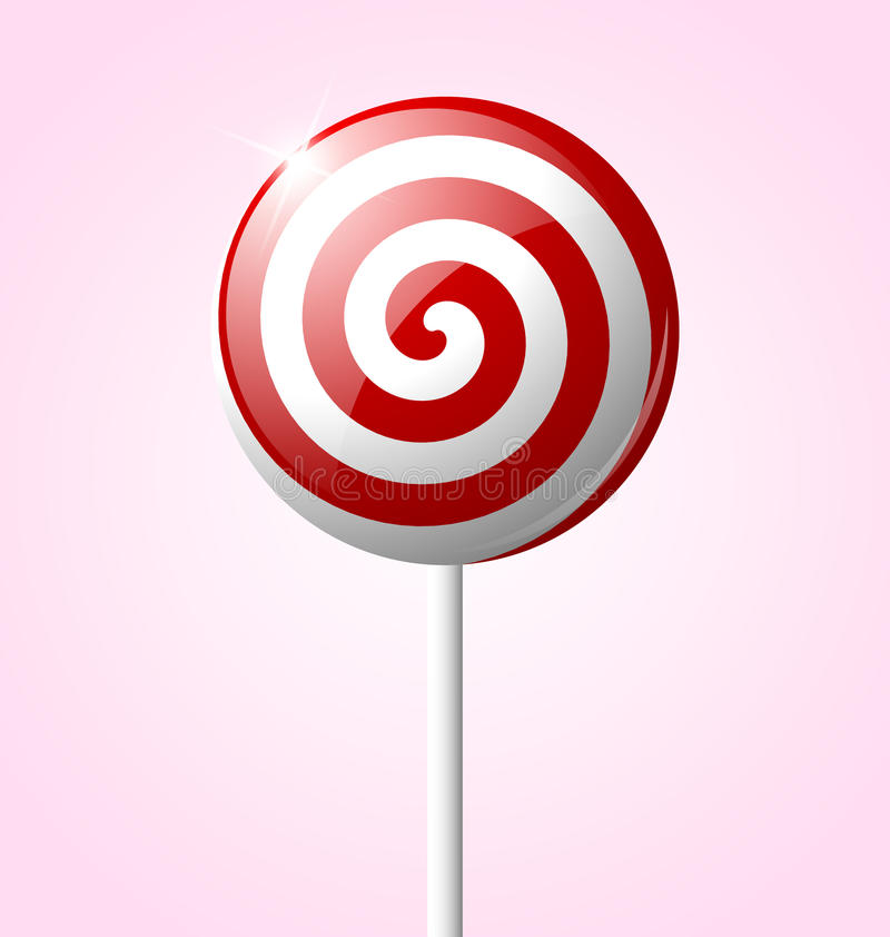 Lollipop doce ilustração do vetor