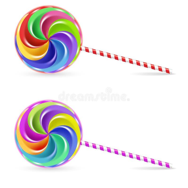 Lollipop espiral ilustração stock