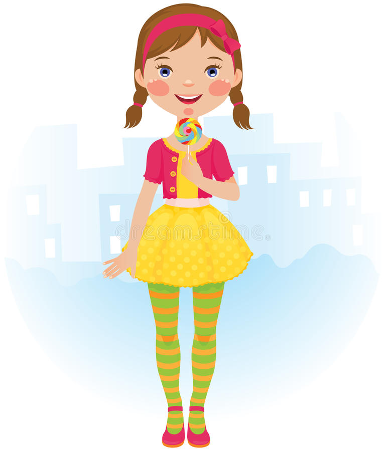 Download Lollipop Girl Royalty Free Stock Images - Image: 23412479