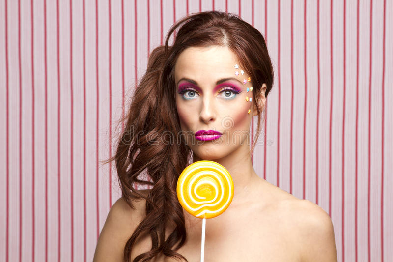 Lollipop girl stock image