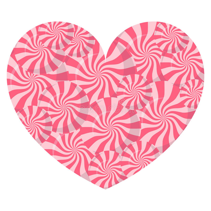 Lollipop heart on white background vector illustration. royalty free illustration