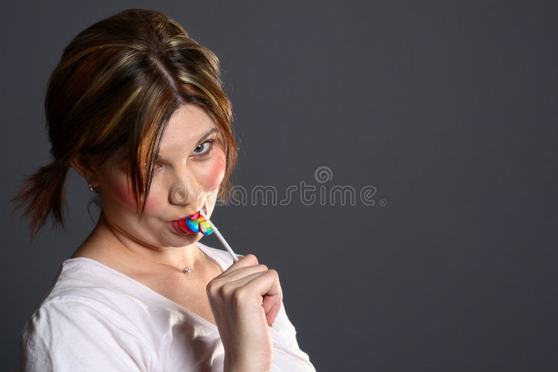 Lollipop modelo fotos de archivo
