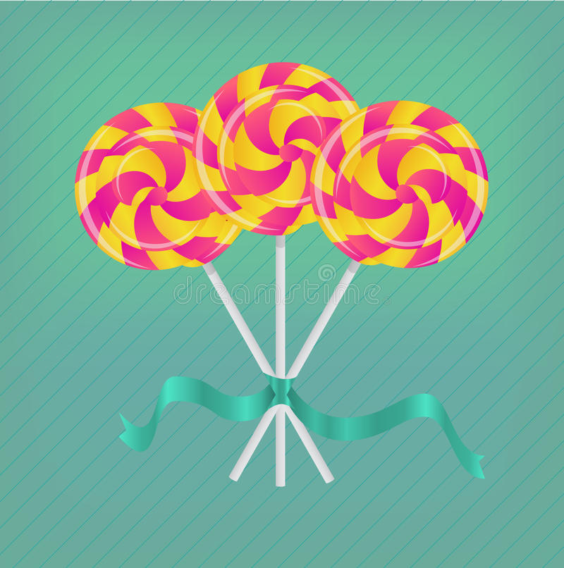 Download Lollipop with ribbon stock vector. Image of design, christmas - 25855176