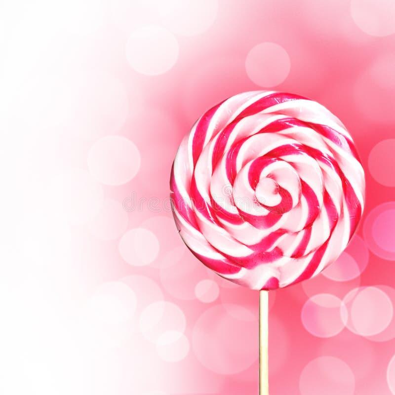 Lollipop rosado fotos de archivo