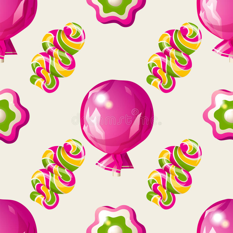 Download Lollipop seamless pattern stock vector. Image of ornament - 38561090