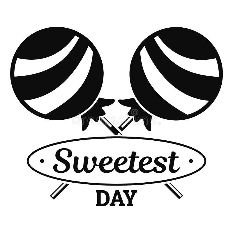 Lollipop sweet logo, simple style stock illustration