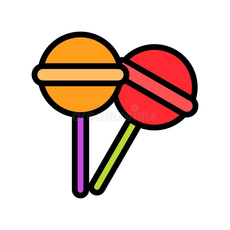 Lollipop vector illustration, filled style icon editable outline. Lollipop food vector illustration, filled style icon editable outline vector illustration