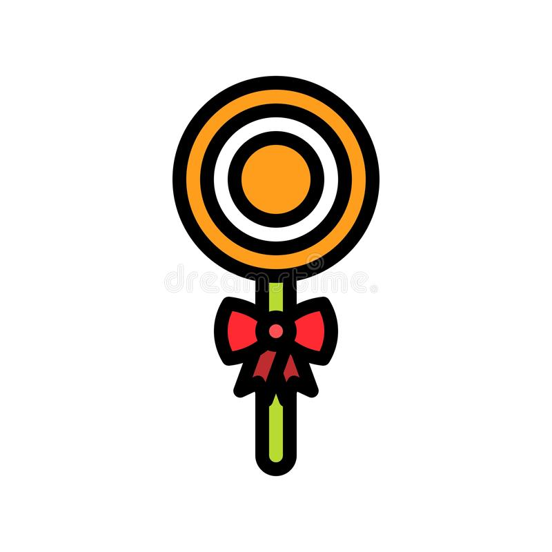 Lollipop vector illustration, filled style icon editable outline. Lollipop vector illustration, filled style icons editable outline royalty free illustration