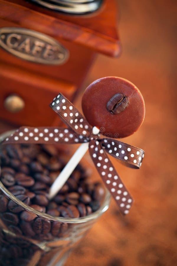 Lollipops шоколада приправленные кофе стоковое изображение rf