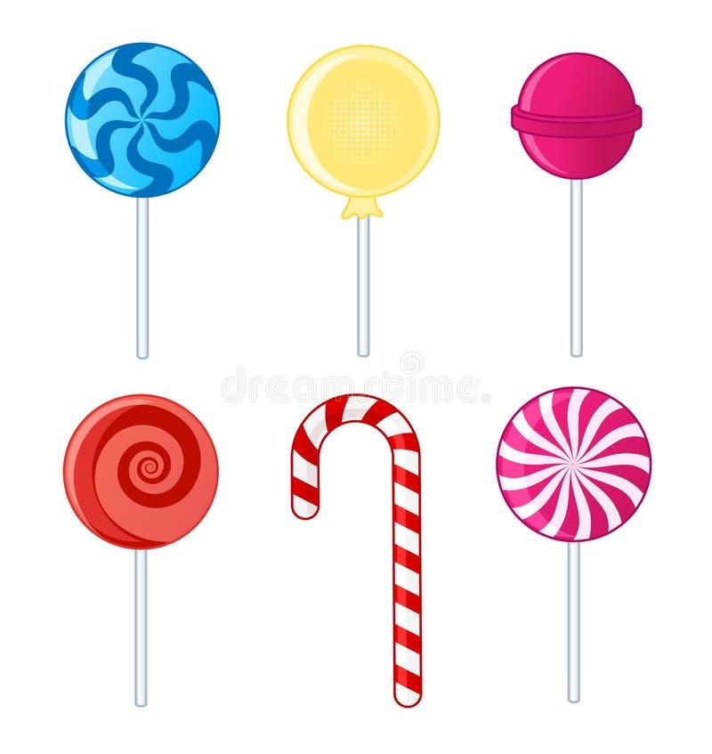 Lollipops ilustração stock