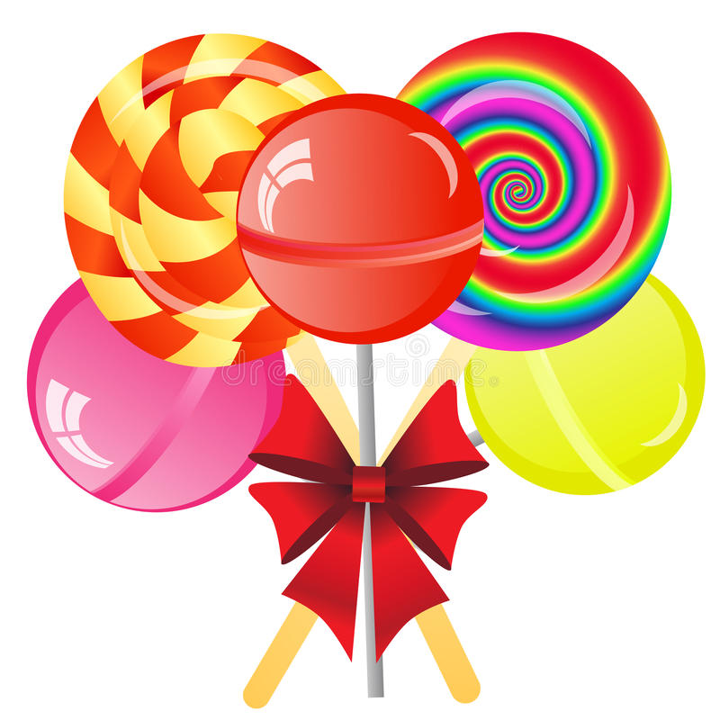 Lollipops Background Royalty Free Stock Photos
