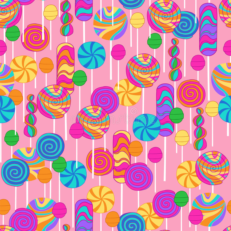 Lollipops Candy Repeat Pattern royalty free illustration