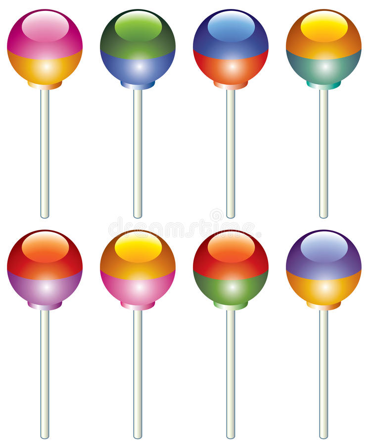 Lollipops coloridos ilustração stock