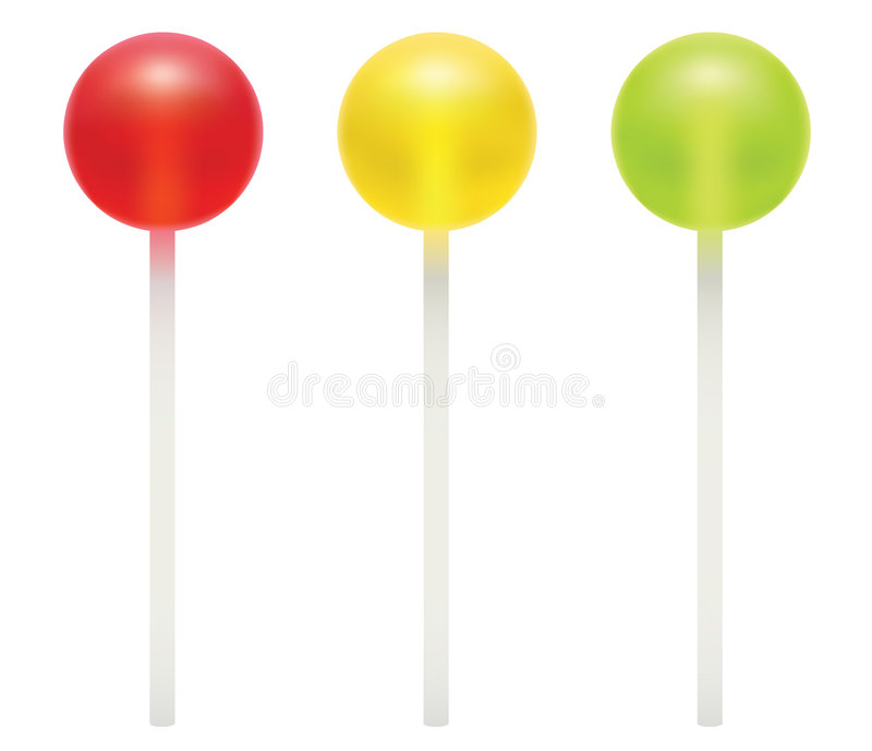 Lollipops coloridos stock de ilustración