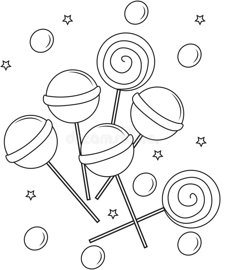 lollipops coloring page stock illustration illustration of draw