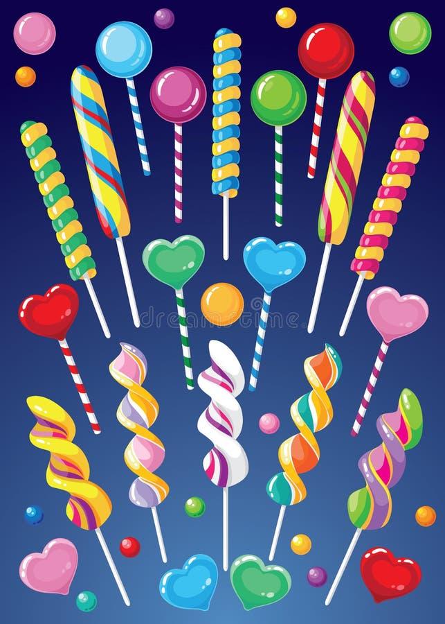 Download Lollipops set stock vector. Image of candy, lollipop - 20968936