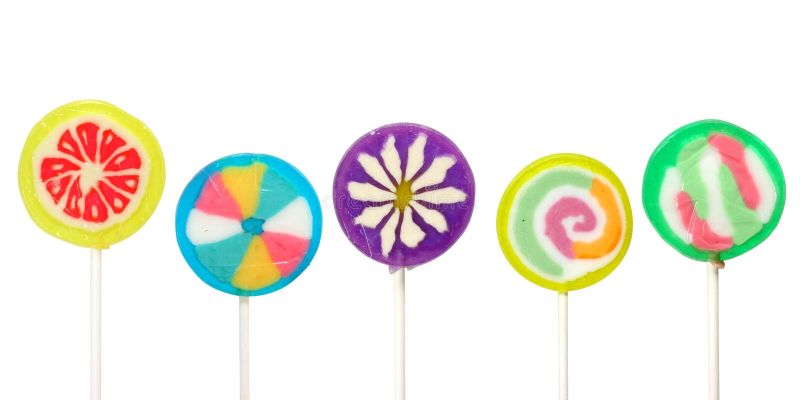 Lollipops variopinti immagine stock