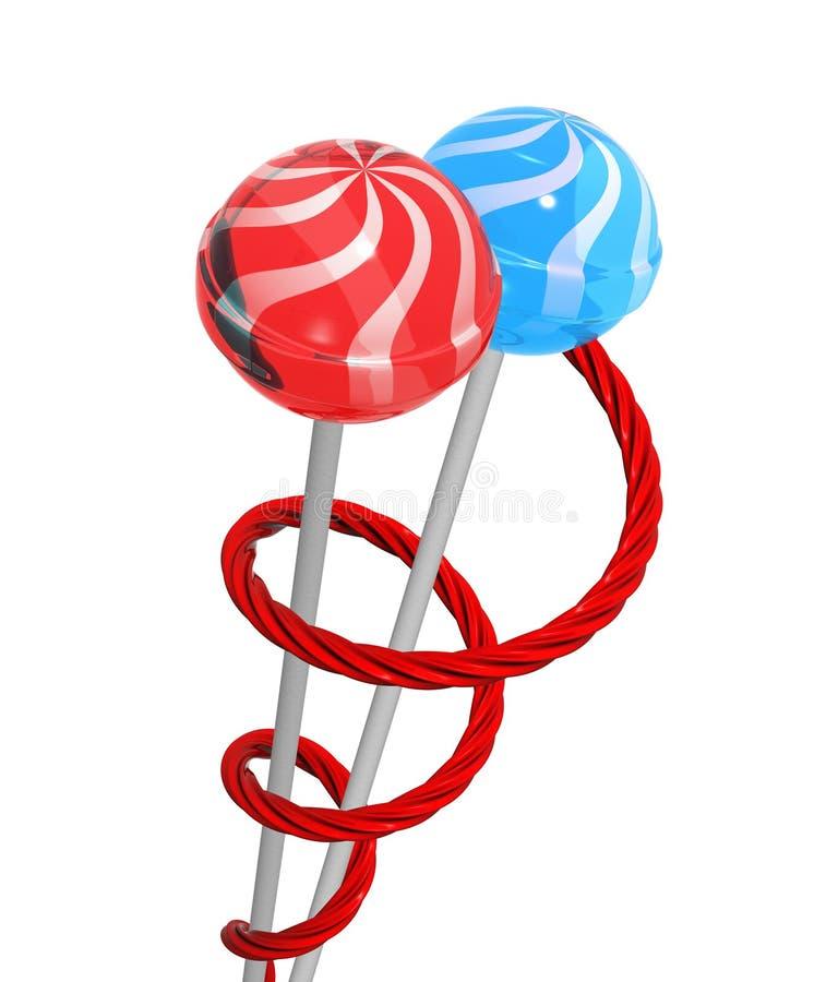 Lollipops y regaliz libre illustration