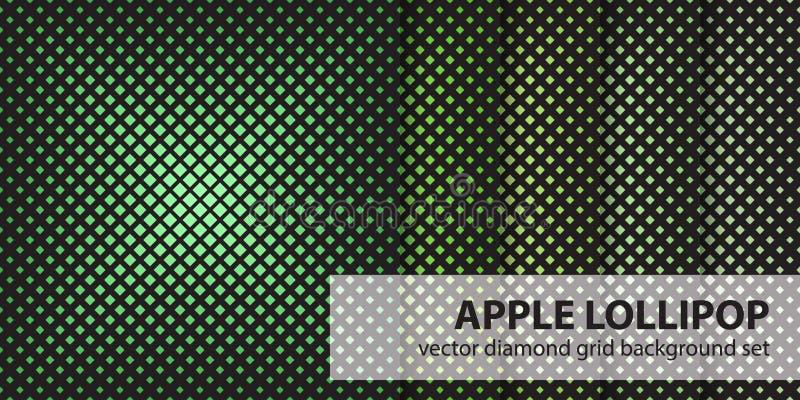Lolly van Apple van het diamantpatroon de vastgestelde Vector naadloze geometrische achtergronden vector illustratie