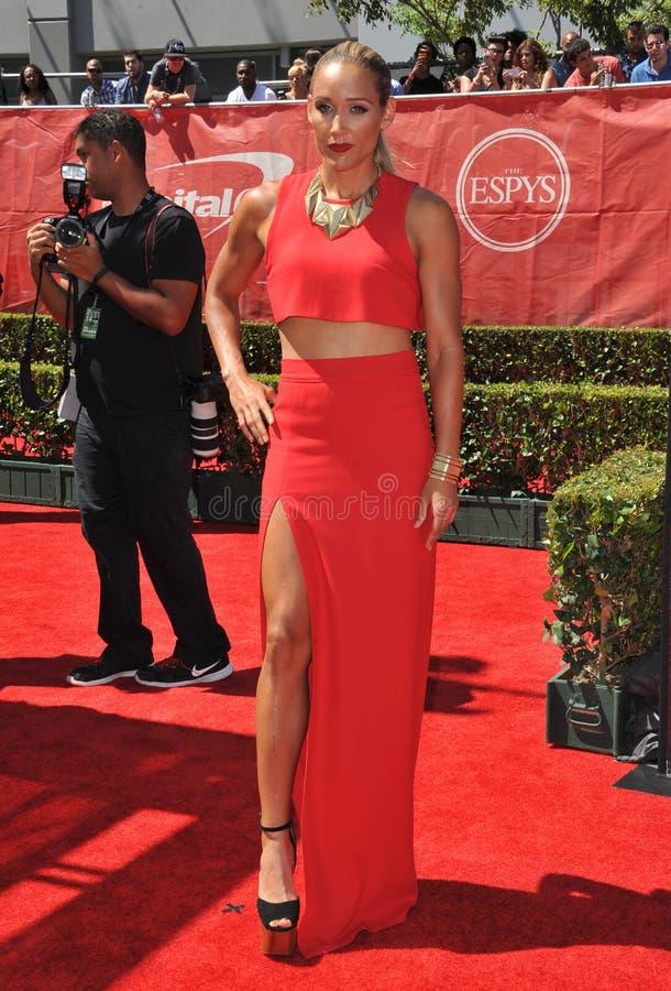 Lolo Jones. LOS ANGELES, CA - JULY 16, 2014: Soccer player Lolo Jones at the 2014 ESPY Awards at the Nokia Theatre LA Live stock photography