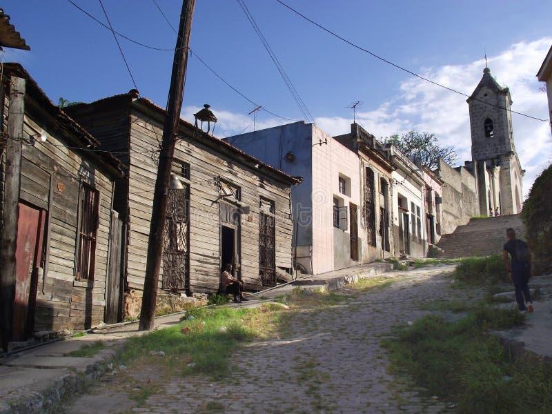 Loma de Jesus del Monte: een slechte buurt in de stad van Havana. stock foto