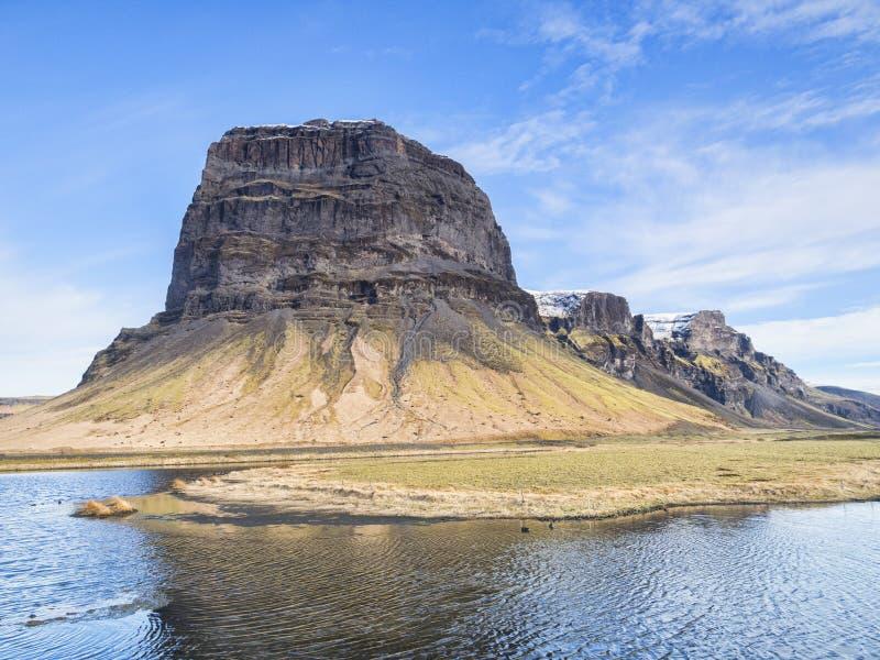 Lomagnupur Islândia sul fotografia de stock