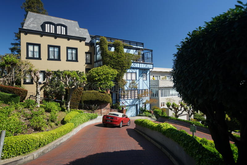 Lombard-Straße lizenzfreies stockbild