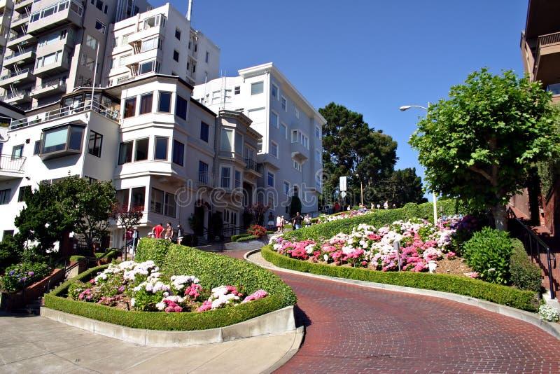 Lombard Straat, San Francisco royalty-vrije stock afbeelding