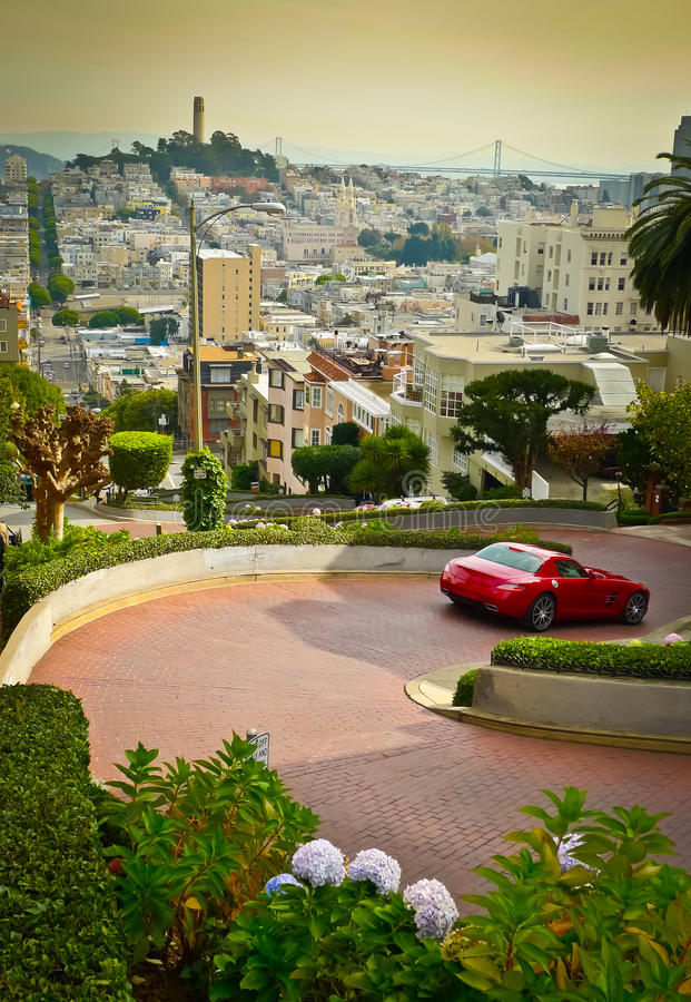 Download Lombard street stock image. Image of flower, attraction - 28769257