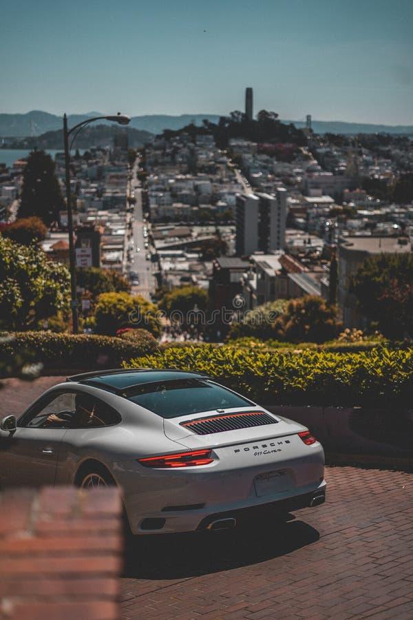 Lombard Street samochód zdjęcie stock