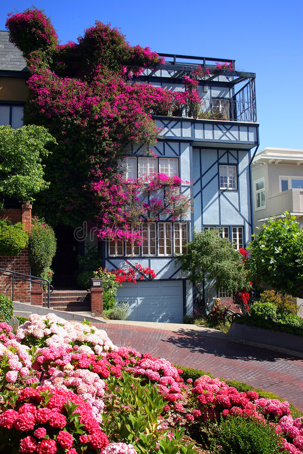 Lombard Street, San Francisco stock images