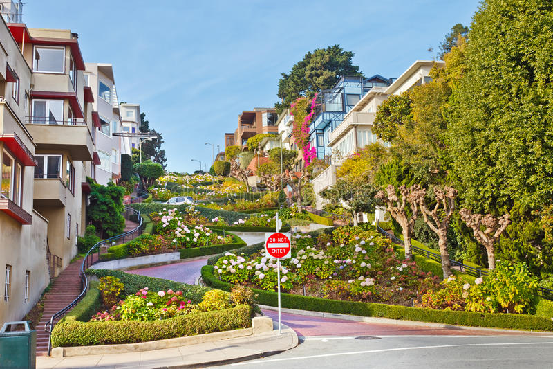 Download Lombard Street In San Francisco Stock Image - Image: 20348753