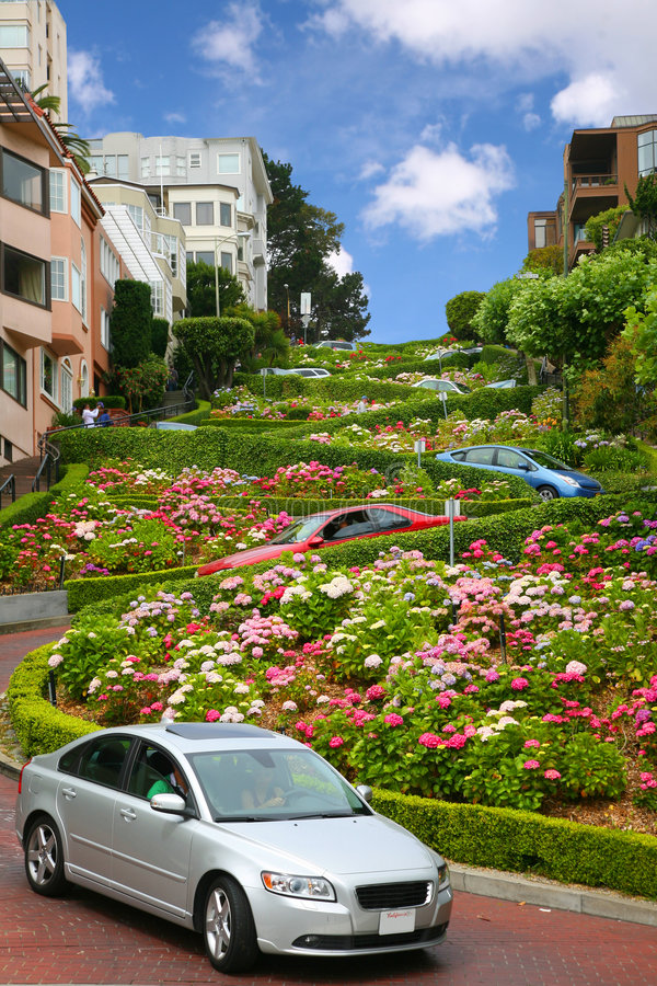 Lombard street, san francisco, california royalty free stock photo
