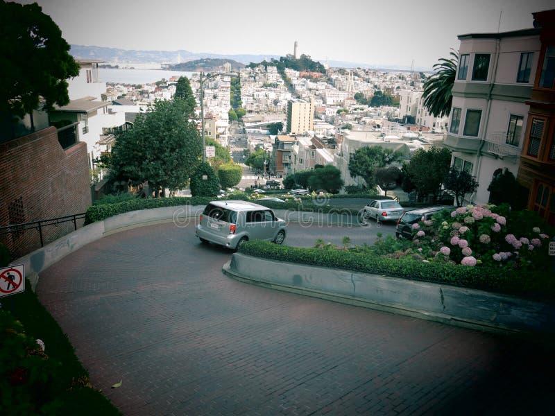 Lombard ulica San Fransisco obraz royalty free
